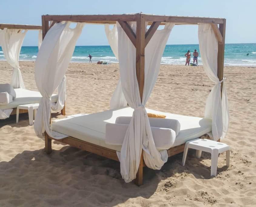 Cama balinesa playa