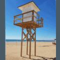 Torre de vigilancia en blanco