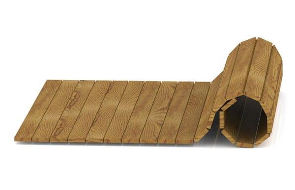 Pasarela enrrollable de madera