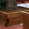 alcorque de madera