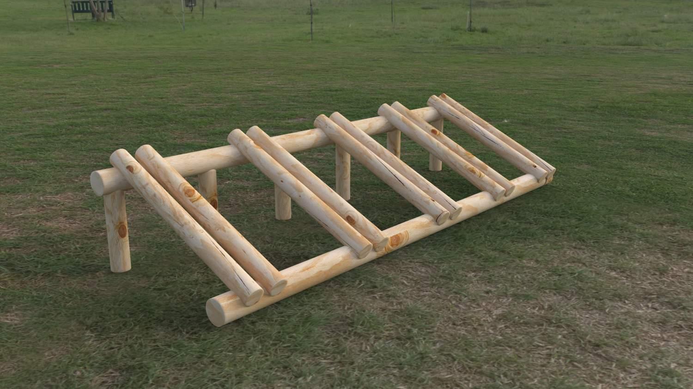 aparcabicis de madera