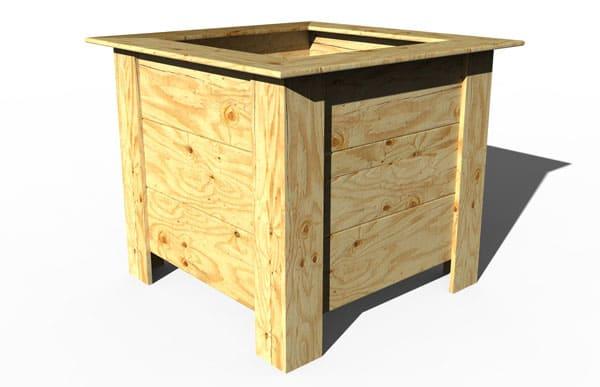 Jardinera de madera modelo MELILLA