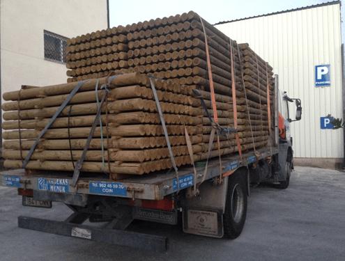 palos redondos madera