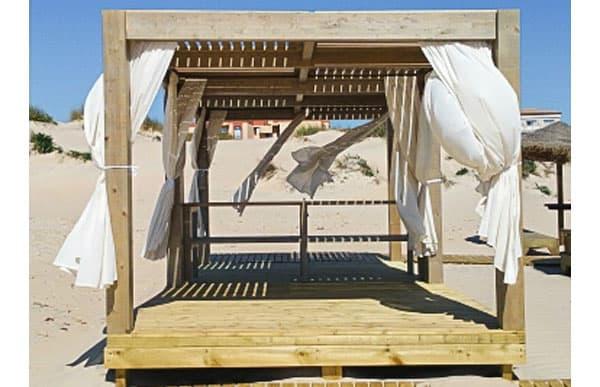 Pergola de madera modelo relax fabricado por Maderas Menur