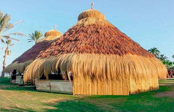 Pergola de madera modelo tropical fabricado por Maderas Menur