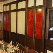 Puerta armario recto ratan cristaldecorativo